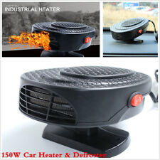 2in1 150W 12V Car Dash Windshield Cool Fan Heater Defroster Portable Demister