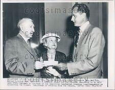1956 US Senator George Smathers FL w Senator & Mrs Walter George GA Press Photo