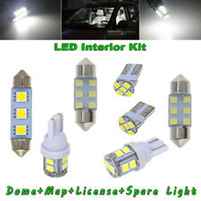 8x White LED For Car Dome Map License Plate Light Bulb Interior LED Package Kit