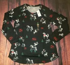 Justice Girls Holiday Christmas Shirt 14 16 Nwt Unicorns