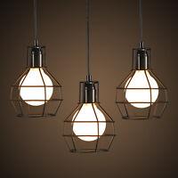 Custom Vintage Industrial Cage Edison wall work Lamp w/ bulb Retro pendant light