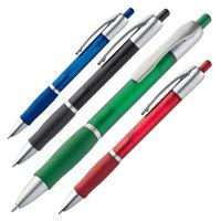 Druckkugelschreiber mit blau schreibender Mine - 4 Farben - 20/50/100 Set