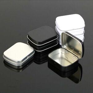 10Pcs Silver Metal Tin Storage Box Hinge Box Organizer Case Novelty