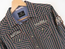 KD2357 SCOTCH&SODA WESTERN SHIRT TOP GREEN CHECK ORIGINAL PREMIUM size M