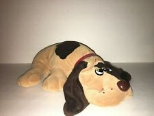 "Vintage Tonka Pound Puppy Large 18"" Brown W/ Long Ears Spots and Collar"