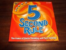 5 Second Rule the Board Game by University Games Complete & VGC Free UK P&P