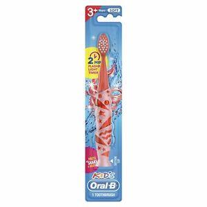 Oral-B Kids 1 Minute Flashing Light Timer Toothbrush Pink 2 Pack