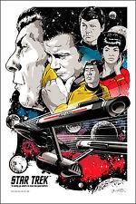 Cartel De Star Trek para que pueda arriesgarse ir por Joshua Budich edición limitada de impresión de pantalla