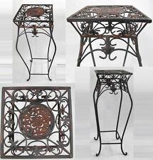 Mesa de Flores,Mesa,Hierro Forjado Rustikal-Braun Aspecto Oxidado 55cm Alto / R