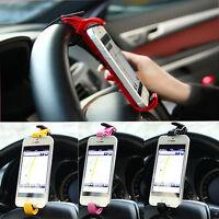 4 Color  Steering Wheel Cradle Holder Clip Car Mount Bracket for  Phone GPS