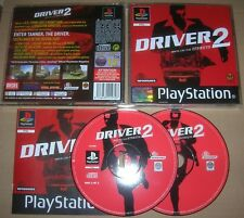 DRIVER 2 UK PAL Playstation 1 2 or 3 game (PS1/PS2/PS3) black label w. manual