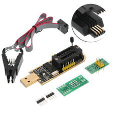 24 25 Series EEPROM Flash BIOS USB Programmer SOIC8 Clip On-Board Kit AU!