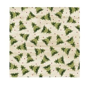 Rustic Village Fabric   Benartex Christmas Tree Beige Wood Plank Print   Yard