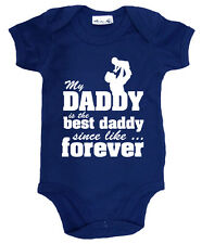 """Dirty Fingers """"My Daddy is Best DADDY since Forever"""" Bodysuit Father's Day Gift"""