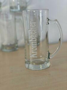 KROMBACHER Brauerei Brewery Half Pint Embossed Beer Stein x6