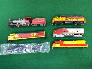 6 HO Locomotive and Shells for Parts or Kitbashing. Lifelike, Tyco, Atlas.