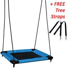 80cm Blue Square Nest Swing + FREE Tree Straps