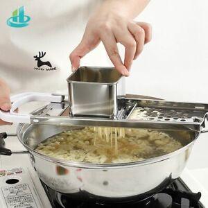 Pasta Maker Manual Machine Noodle Stainless Steel Blades Kitchen Accessories