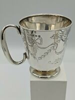 Fine Quality Antique Silver Christening Cup Henry Williamson Birmingham 1914