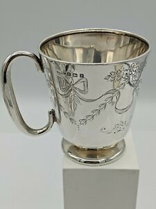 Fine Quality Antique Silver Christening Cup Henry Williamson Birmingham 1914