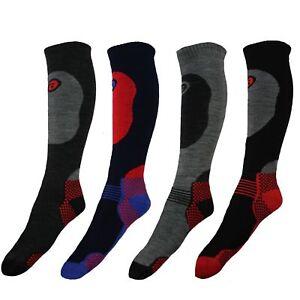 New Mens Soft Thermal Padded Long Winter Ski Socks Hiking Snowboarding Walking