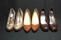 Lot 3 Womens Pumps 6.5 Includes Gianni Bini &  Moda Spana & Ellen Tracy