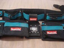 Makita job-site, construction worker tool belt.