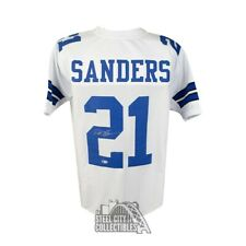 Deion Sanders Autographed Dallas Cowboys Custom Football Jersey - BAS COA