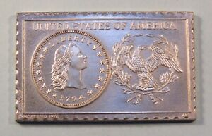 1794 United States 1/2 Half Dime Numistamp Medal Coin 1976 Mort Reed Limited