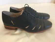 CLARKS WOMEN'S GIRLS NAVY LEATHER SUMMER SHOES SIZE 4 D