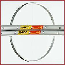 "NOS MAVIC 192 RIMS 28"" 700c 36H VINTAGE CLINCHER 90s ROAD RACING BIKE NEW SILVER"