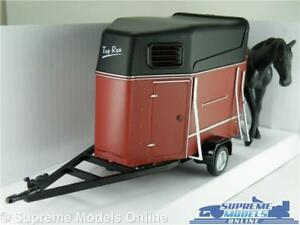 HORSEBOX MODEL 1:43 SCALE TRAILER EQUESTRIAN CARARAMA WITH HORSE OPENING K8