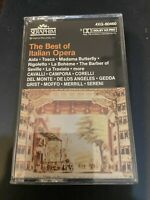The Best Of Italian Opera Cassette Tape 1987 Angel Records with Program