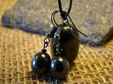Shungite pendant and earrings from Karelia magic stone amulet talisman.