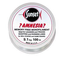SUNSET - Amnesia-Vorfachschnur KLAR 100m  20LB  9,1kg (0,14€/1m)
