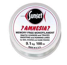 SUNSET - Amnesia-Vorfachschnur KLAR 100m  20LB  9,1kg