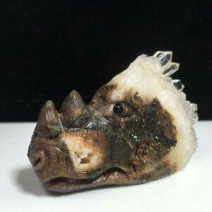 Natural crystal cluster quartz mineral specimen, pure hand carved  KKK