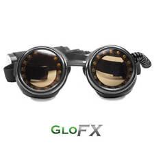 GloFX Pixel Pro LED Goggles Tinted Sunglass Lenses Black Polymer Frame Rave EDM