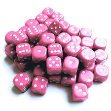 12mm Spot Dice x 50 - d6 opaque dice - choose your colour