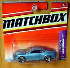 Matchbox Bentley Continental GT [Blue Silver] - New/Sealed/Rare