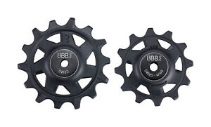 BBB RollerBoys Sram Jockey Wheels - 12/14T - Black - BDP-07