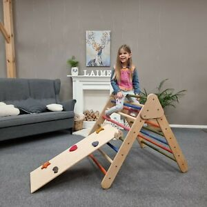Pikler Climbing Triangle / Kletterdrei / Sliding ramp / Montessori toy / wooden