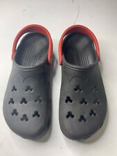 CROCS Disney Mickey Mouse Clogs Black & Red Adult Women 12-14 Men 10-11