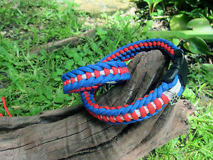 Independence month - Jagged Ladder Paracord Dog Collar with matching bracelet