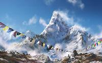 Impression Encadrée - Support Everest Monde 'S la Plus Grande Montagnes ( Image
