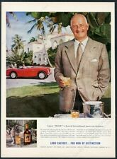 1955 Austin Healey 100 Donald Healey photo Lord Calvert whiskey vintage print ad