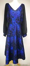 Per Una Womens Long Dress, Size 20, Shiny Blue Mix, Excellent Condition