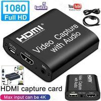 1080P HD HDMI Video Capture Card 4K USB 2.0 Screen Recorder Game HDTV Streaming