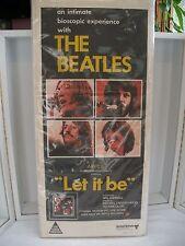 "1970 Beatles Movie Poster Let It Be Original Australian Daybill   30 X 13 1/2"""