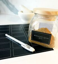 63 Blank Pantry labels with quality White Gel Pen